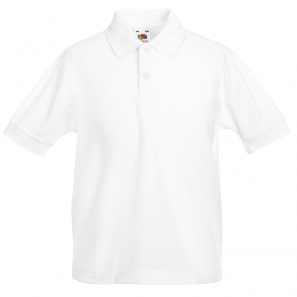 milefield white polo shirt