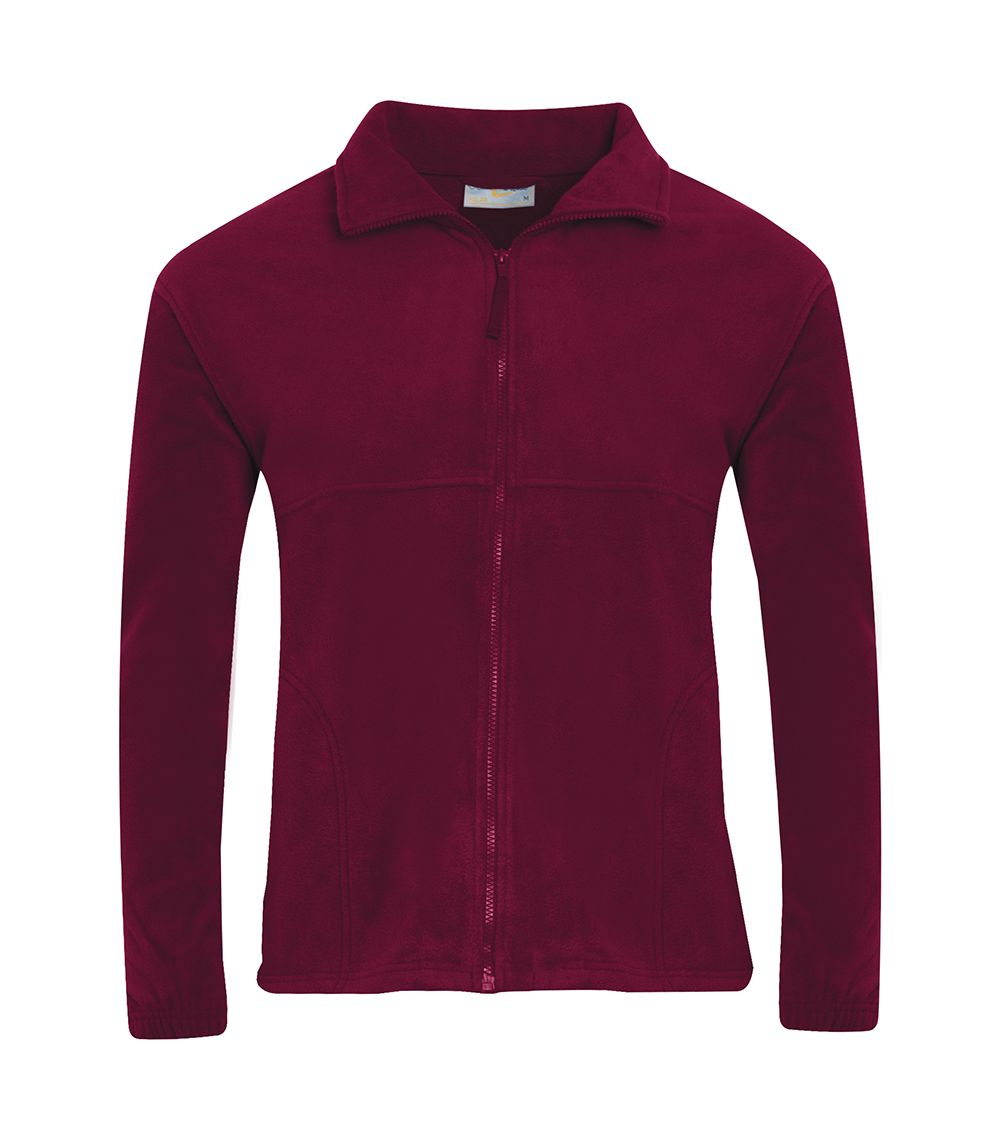 Churchfield Maroon Fleece Jacket